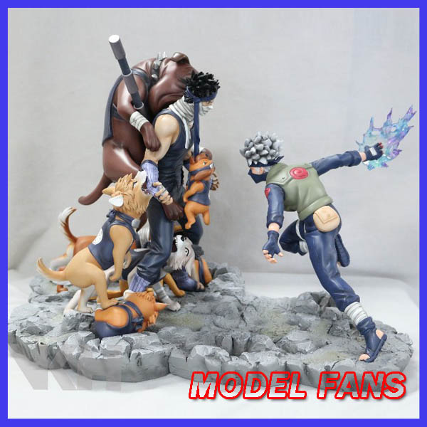 MODEL FANS IN-STOCK VKH 36cm NARUTO Hatake Kakashi  VS Momochi Zabuza GK resin made for Collection naruto action figure hatake kakashi flash power rock scene diy set naruto shippuden hatake kakashi model toy kakashi diy180