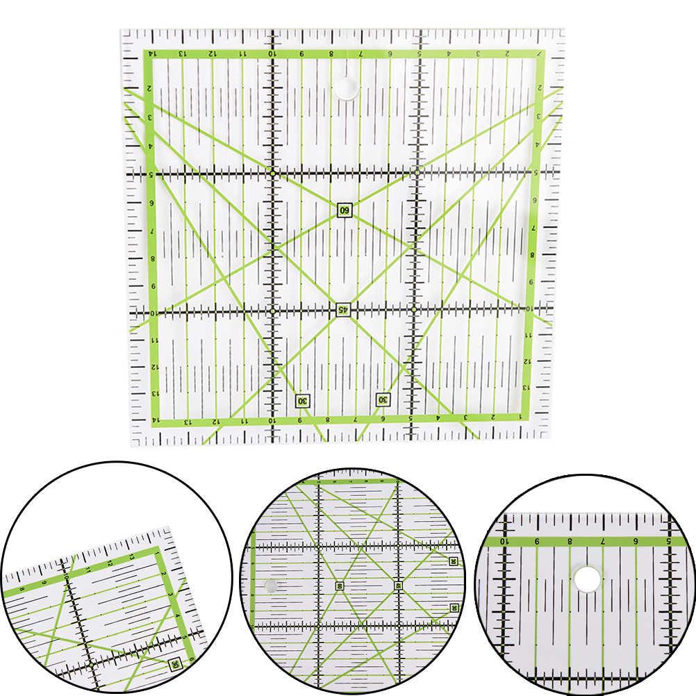 "1pcs 1pcs patchwork Liniaal Acryl Materiaal Transparante Schaal Schoolbenodigdheden Arts Craft Naaien 5.91 """" x5.91"" ""* 0.2cm"