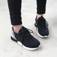 High quality 2016 Women Sneakers Lace-up Sport Shoes Women Comfortable Running Shoes f-037