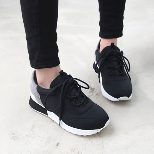 Chic Ladies casual sneakers shoes lace-up running sports trainers athletic shoes