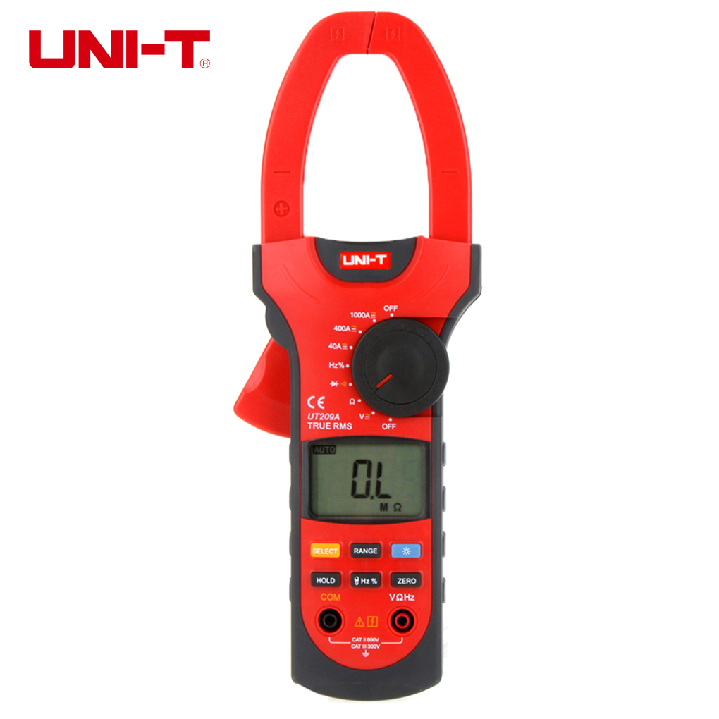 UNI-T UT209A Digital Clamp Multimeter Resistance Frequency Clamp Meter Digital Auto Range LCD Backlight Ammeter Voltmeter my68 handheld auto range digital multimeter dmm w capacitance frequency
