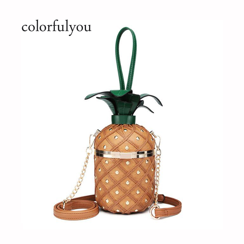 2019 Pineapple shape handbag PU Leather shoulder bag for Women Lovely fruit tote Bag with chain Womens clutch party bag purse2019 Pineapple shape handbag PU Leather shoulder bag for Women Lovely fruit tote Bag with chain Womens clutch party bag purse