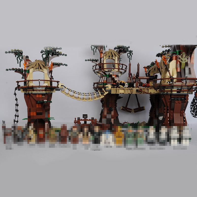 Lepin Étoile Guerre 1990 pcs 05047 Ewok Village Blocs De Construction Juguete Para Construir Brique Jouets pour enfants Compatible 10236 Cadeaux
