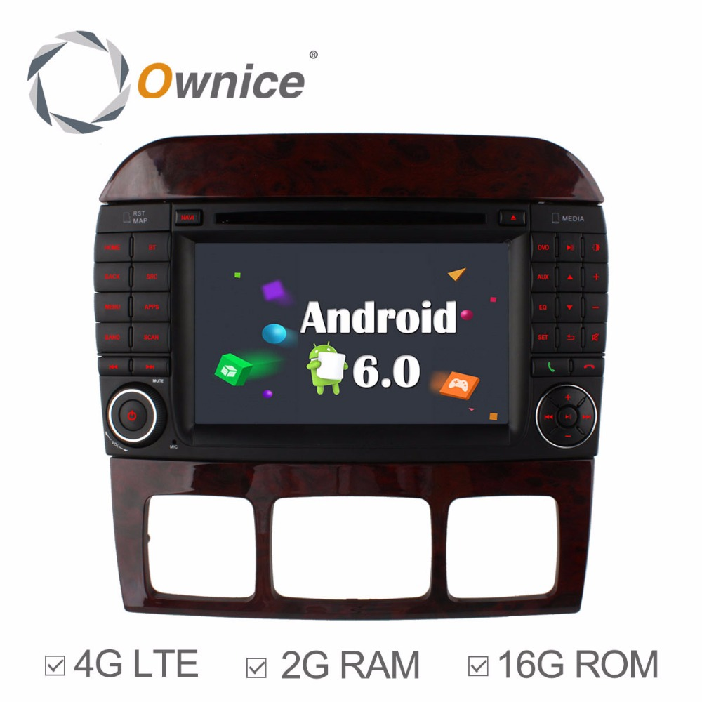 Ownice C500 8 Core Android 6.0 Car DVD Player for Mercedes S Class S500 S600 S280 S320 S350 S400 S420 S430 W220 Radio 4G GPS