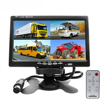 7 Split Quad Monitor TFT LCD Car Monitor Video Input PC Audio Video Display For Front