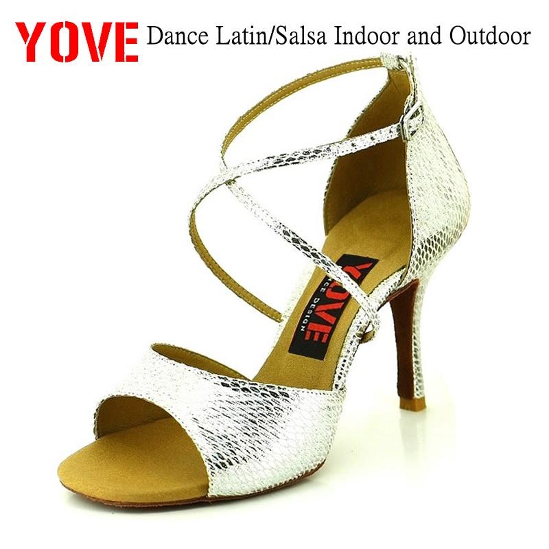 YOVE Style w137-18 Dansesko Bachata / Salsa Indoor og Outdoor Women's Dance Shoes