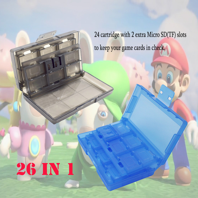 Nintend Case 24 in 1 Portable Game Cards Case ABS Shockproof Hard Shell Protective Storage Box for Nintend Switch NS 2
