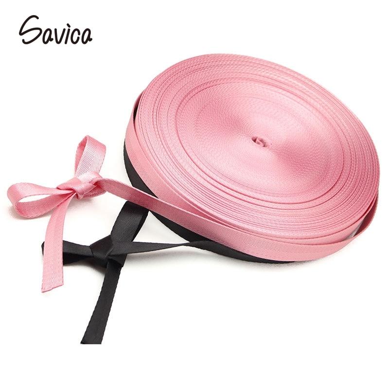 Savica 1y/3y 20mm Pink,Black Woven Webbing Ribbons Sewing Bags Strap Belt For Shoulder Bags Handbag Garment DIY Accessories