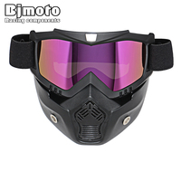 NEW 2016 Retro Motorcycle Goggles Glasses Face Dust Mask With Detachable Nose And Face Sunglasses Gafas