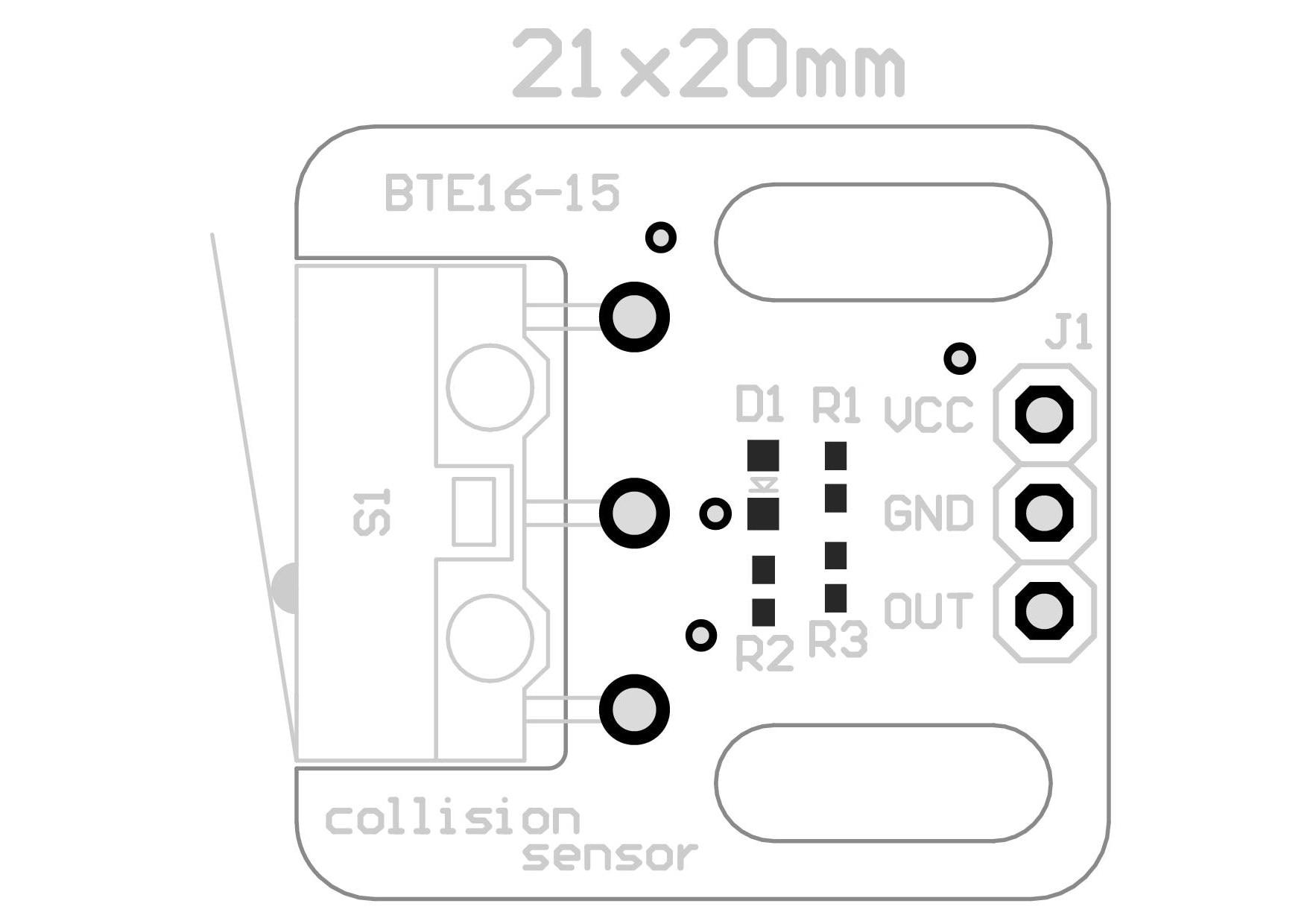 Collision Detection Module Crash Sensor Switch Keypad Tuch-button Touch Robot 1X