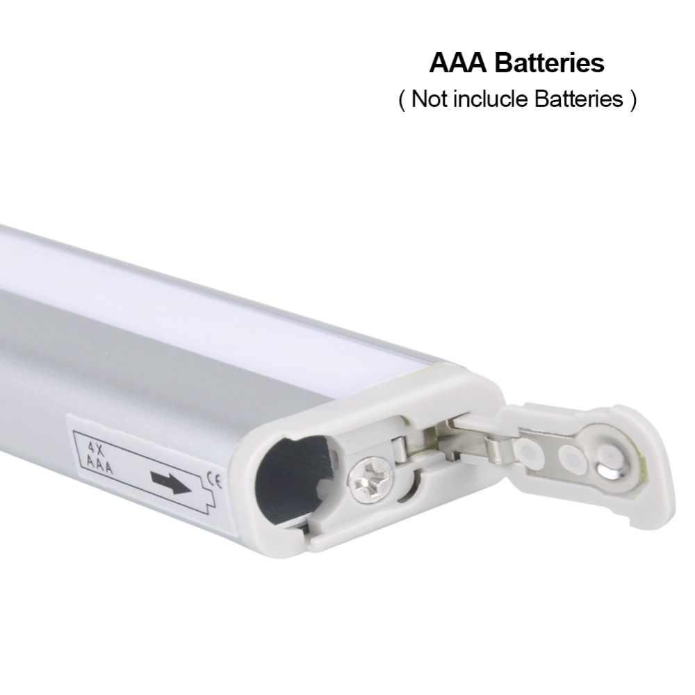 Беспроводной движения PIR сенсор лампа умный батарея светодиодный под кабинет огни для Шкаф Кухня ночник