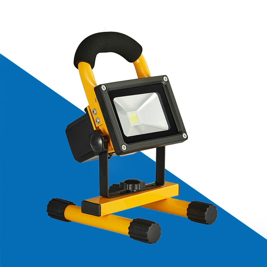 цена на 20W 10W Floodlight Rechargeable LED Flood Light DC12V-24V Portable Outdoor Spotlight Lamp Camping Work Light With EU Car Charger