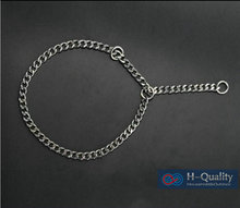M Size Stainless Steel Dog Colla Snake Chain Pet Collar Smooth And Bright Surface, No Gap Between Links