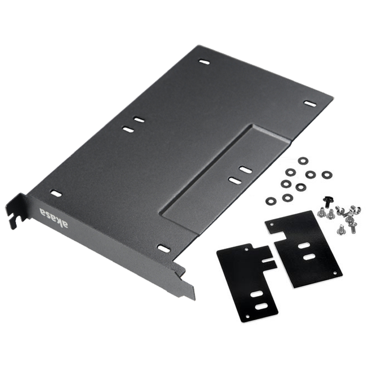 2.5Inch SSD HDD Double Bay Metal Adapter Mounting Bracket Caddy Hard Drive Bay HDD Storage Rack Enclosure For PCIe/PCI Slot