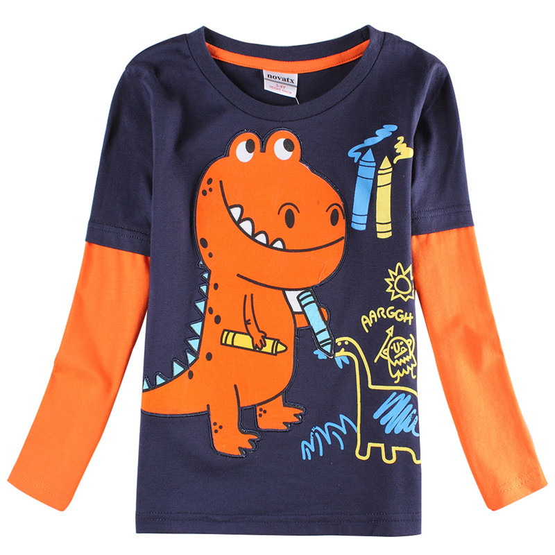 novatx A6501 enfants garçon à manches longues t chemises jersey ... 1fbd98bce21