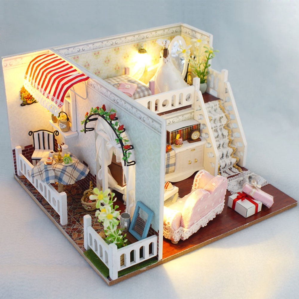Doll House Gifts Miniature Diy Puzzle
