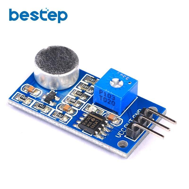 5 шт. датчик обнаружения звука модуль микрофон шум децибел интерфейс