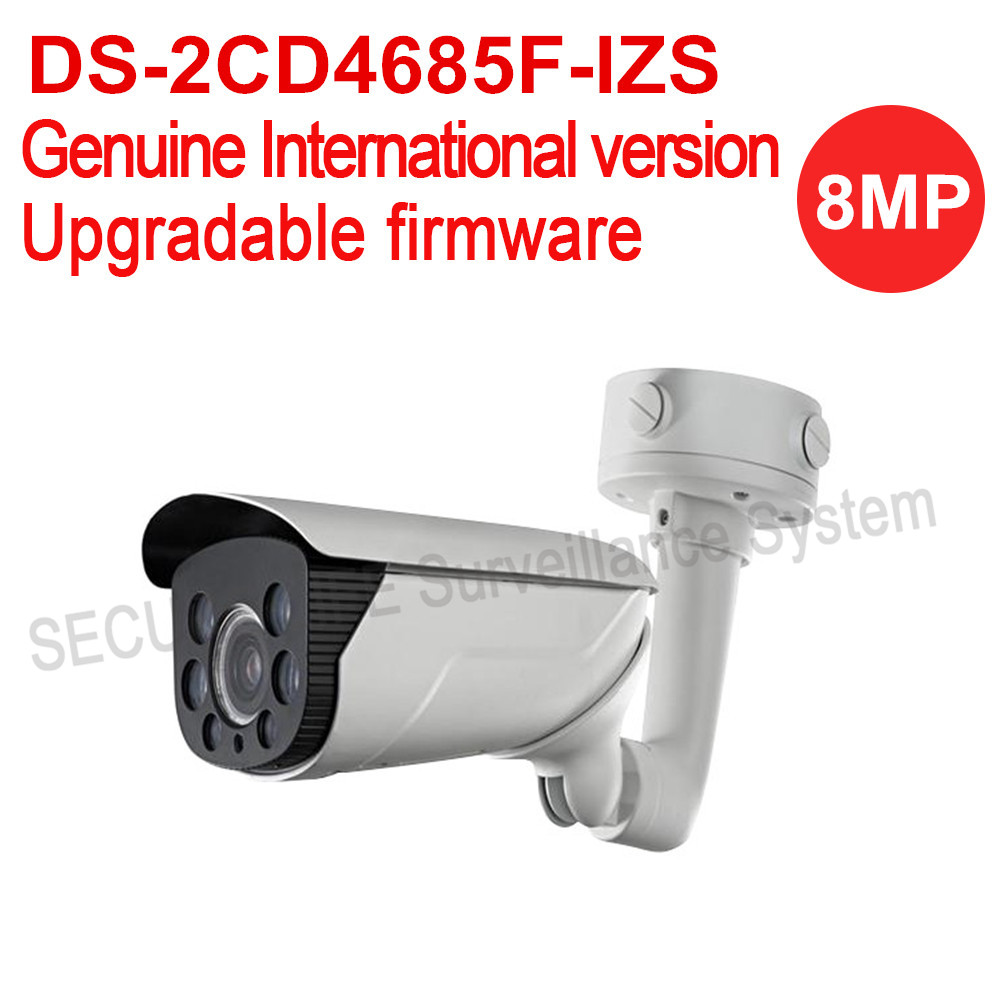English version DS-2CD4685F-IZS 4K Smart Bullet Camera Support 128G  SD card  PoE IP66,70m IR audio no heater hikvision ds 2de7230iw ae english version 2mp 1080p ip camera ptz camera 4 3mm 129mm 30x zoom support ezviz ip66 outdoor poe