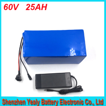 Hot Selling 1800W Lithium Electric Scooter Li Ion Battery Pack 60v 25ah For Folding Electric Scooter For Panasonic cell