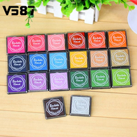 20pcs Hot Fashion Finger Painting Color Inkpad Rubber Kids Scrapbooking Stamps Candy Color Book Decoration
