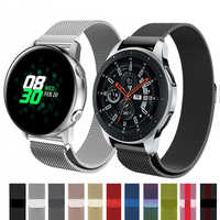 Milanese strap For Samsung Gear S3 S2 Frontier/Galaxy watch Active 46mm/42mm Amazfit Sport stainless steel Huawei watch GT strap