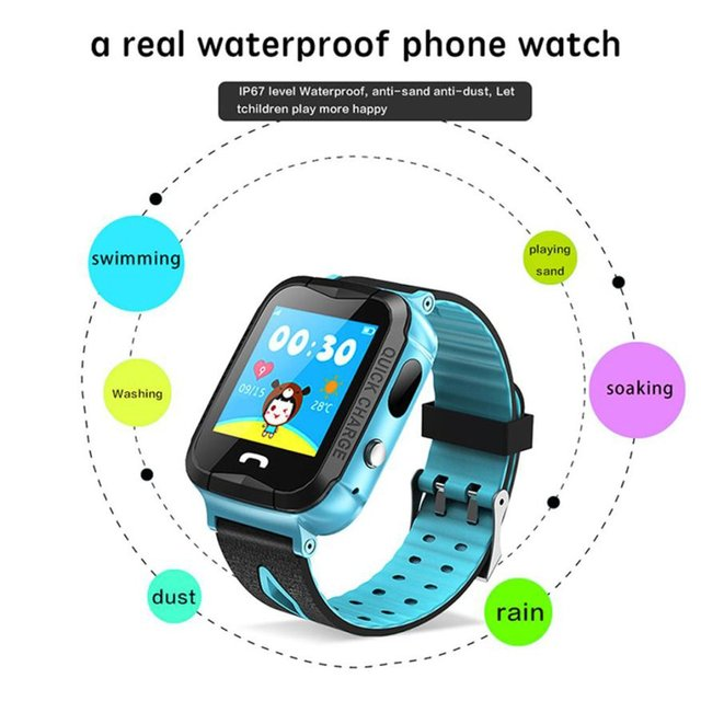 New Y34 Daily Waterproof Anti Lost Child GPRS Tracker SOS Positioning Tracking S