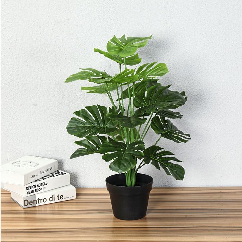 70 CM Artificial Real Touch Monstera Tree Plants Fake Tropical Tree Plants Home Garden Decor No Pot