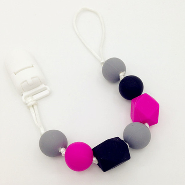 Bpa silicone baby teething pendant clips silicone teething bpa silicone baby teething pendant clips silicone teething pacifier clip with chew beads wholesale mozeypictures Gallery