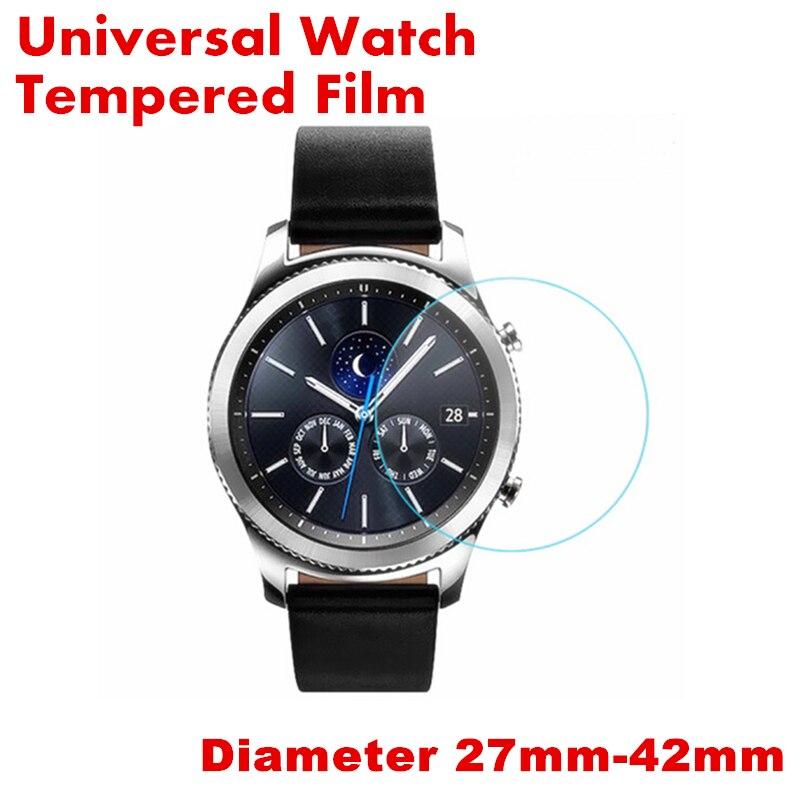 Universal Gehärtetem Glas Für Runde Uhr Schutzhülle Film Für Smart Uhr Screen Protector Durchmesser 27mm 30mm 32mm 34mm 36mm