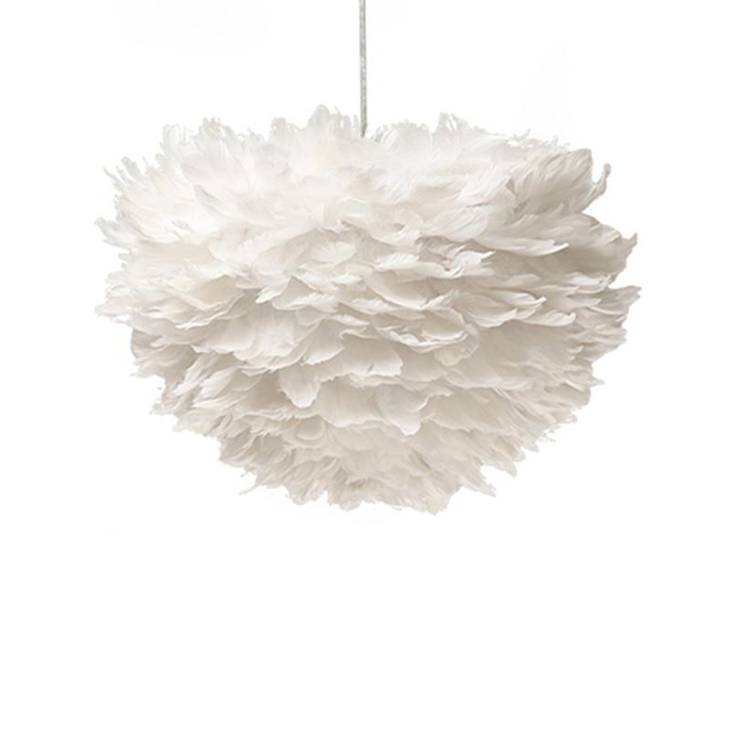 €193.45 |Nouvelle lanterne créative nordique nid d'oiseau plume blanche  princesse suspension lampe luminaire pour chambre salon PL485-in Lampes à  ...