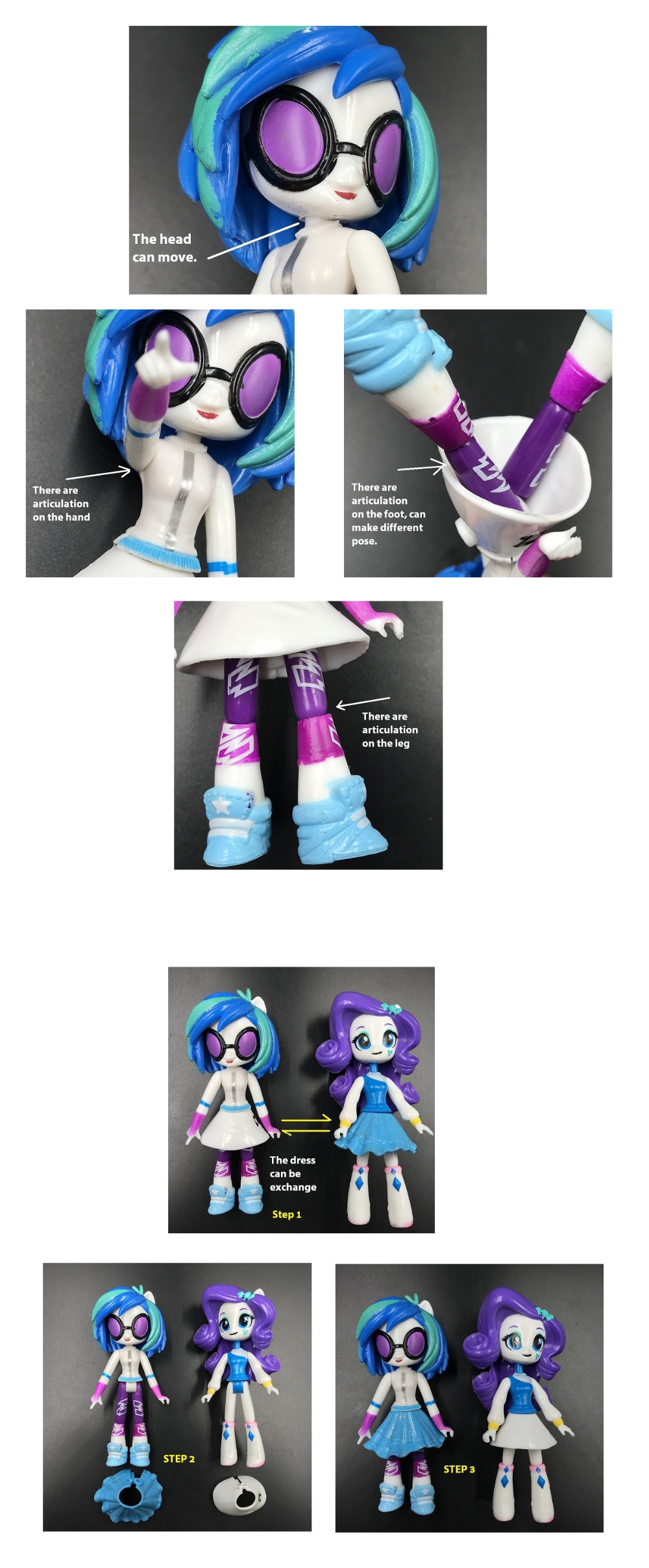 My Little Cute Pony Girl Figurines 13cm 18