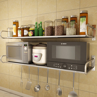 304 stainless steel kitchens microwave oven rack wall mounted condiment rack oven storage rack LU5155