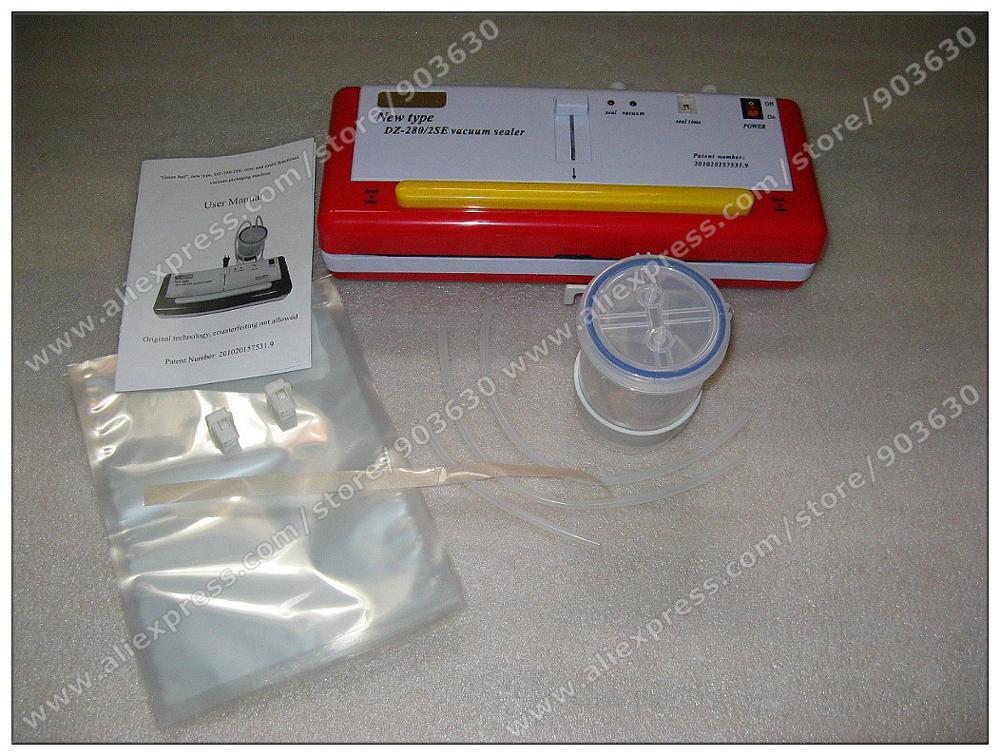 Купить с кэшбэком Dry and liquid Kitchen Food Vacuum Sealer Sealing Machine Food saver Storage Seal Bags Food Packing Machine with Vacuum bag gift