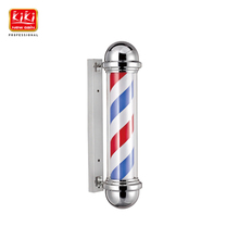 317D size Roating Stainless steel Barber Pole with lamp.beauty Salon Equipment.Barber Sign.barber shop.Hot sell