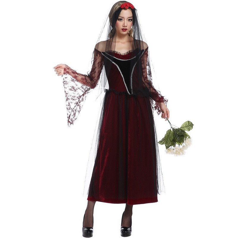 european and american game halloween witch dress bridal wear dark devil dress witch dress witch and - Halloween Fashion Games
