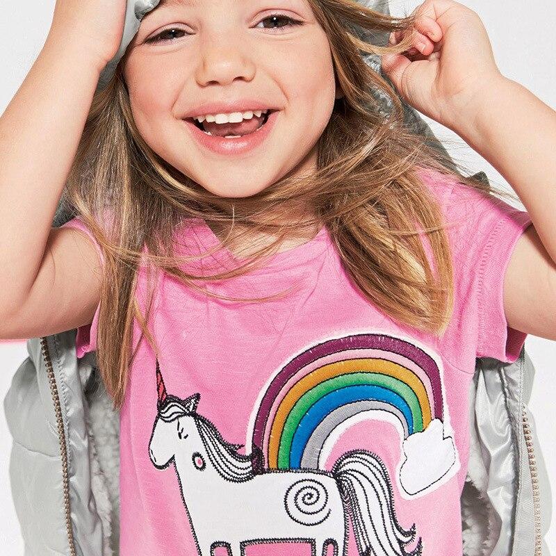 2018 Baby Girl Summer Hot Children Round Neck Short Sleeve Printed Animal Cartoon T Shirt Tshirt Kids Clothes Menino Unicorn Tee