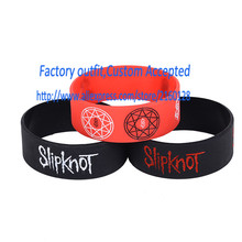 1PC Slipknot Silicone Wristband Alternative Style Music Bracelet Adult Size Promotion Wholesale
