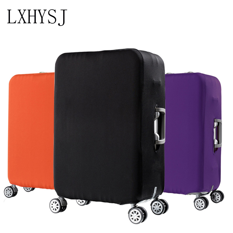 Pure Color Luggage Dust Cover Suitable For 20-33 Inch Trolley Case Luggage Dust Cover Perfect Elasticity Travel Accessories