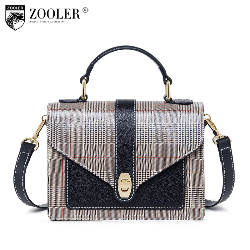 Hot ! Top!2018 ZOOLER woman shoulder bags genuine leather bag patchwork cross body luxury designed for lady#B226 brand new b226