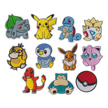Pikachu Pokemon Go Team logo iron on patches UMBREON Movie TV Game Series Cosplay Costume Embroidered Emblem Badge fan art cos(China)