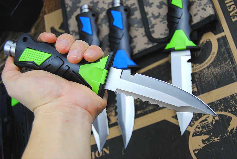 Çok fonksiyonlu açık bıçak dalış bıçak açık kaçış aracı kesme halatı legger bıçak acil ekipmanları legger kemer