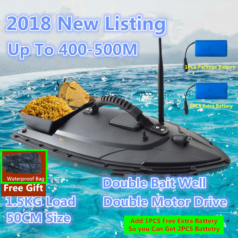 Fishing Fishing Tools Alert Fishing Bait Boat T1688 4kg Fish Food 500m Remote Control 4 Lure Warehouse For Smart Fishing Rc Fish Finder Boat