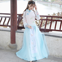 Womens Chinese clothing female Tang suit retro buckle repair shirt style daily rcosplay improved costume set
