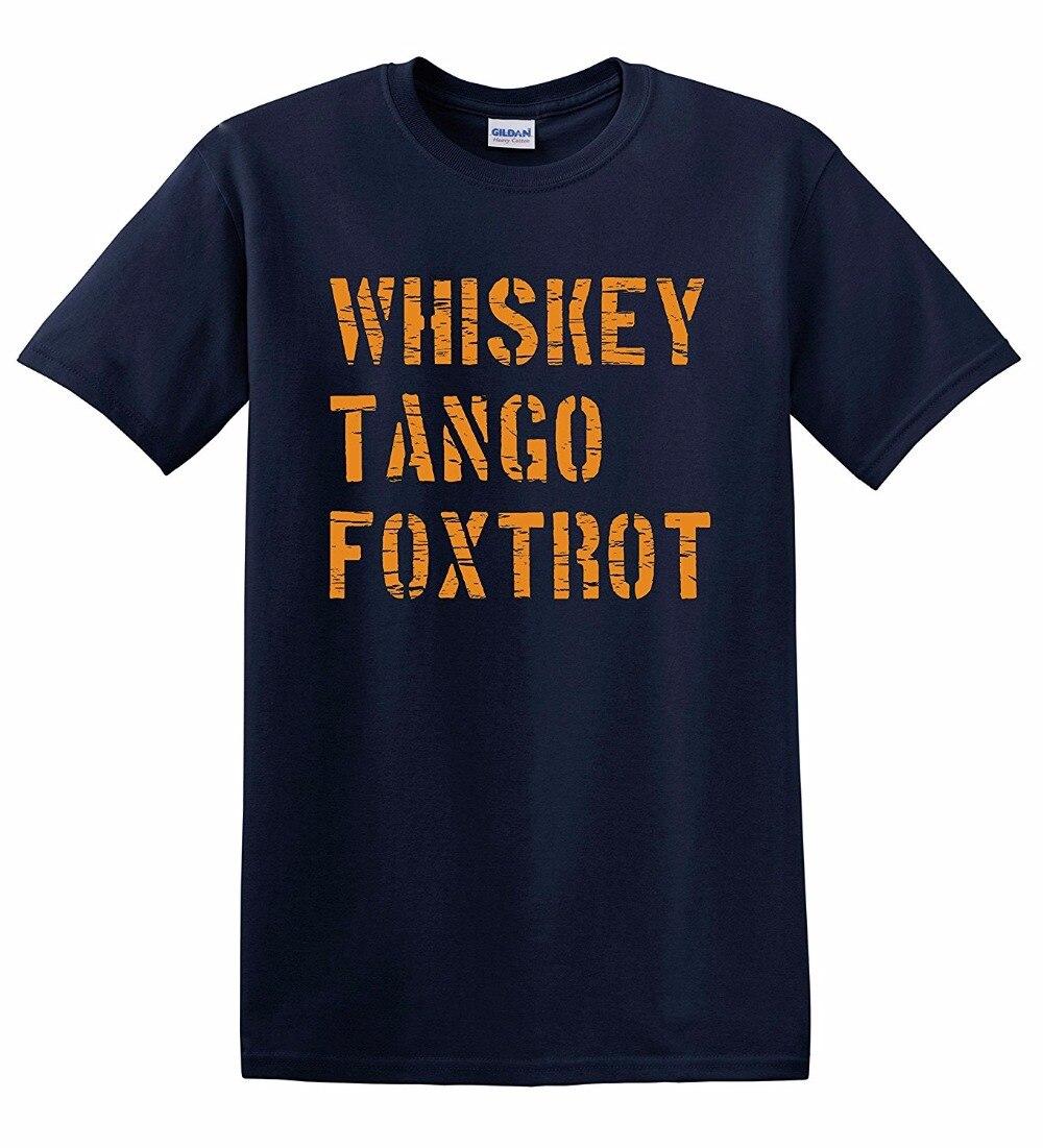100% cotton cool t shirt lovely summer jersey costume t-shirt Men's <font><b>Whiskey</b></font> <font><b>Tango</b></font> <font><b>Foxtrot</b></font> T-Shirt