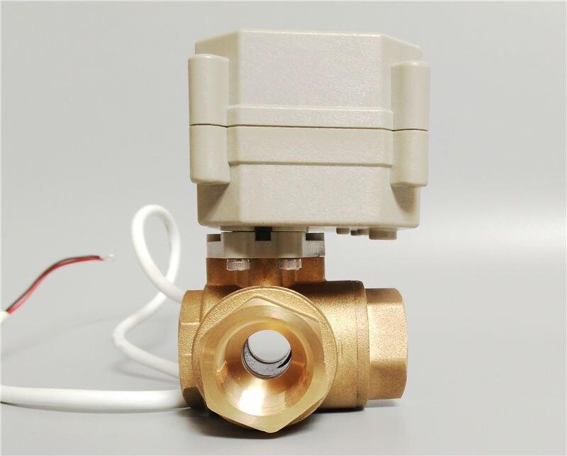 3/4 \'\'elektrische motorsteuerung kugelhahn 3 wege horizontale typ ...