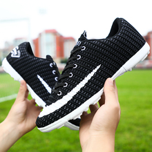 New Artificial Grass Kids Soccer Turf Shoes Brand Mens Blue Boots Comfortable Youth Shoes for Boys Indoor Soccer Shoes for Men цена