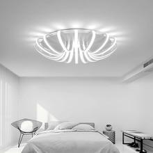 ФОТО Luminaire Living Room Lights Atmospheric Art  Home Warm Wedding Bedroom Ceiling Light Led Simple Shaped Lighting