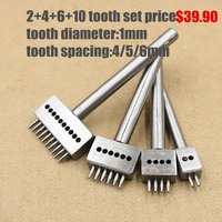 Diy Handmade Stitched Leather Tools Punching Tool Porous Row Circular Cut Hole 1mm Hole With 4mm