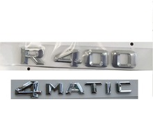 Chrome  R 400 4 MATIC Car Trunk Rear Letters Words Badge Emblem Letter Decal Sticker for Mercedes Benz Class R400 4MATIC