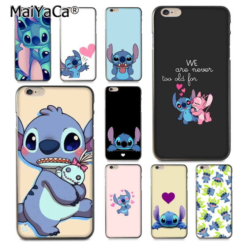 MaiYaCa cartoon Lilo Stitch Novelty Fundas Phone Case Cover for iPhone 8 7 6 6S Plus X 10 5s xr xs max 11pro case Coque